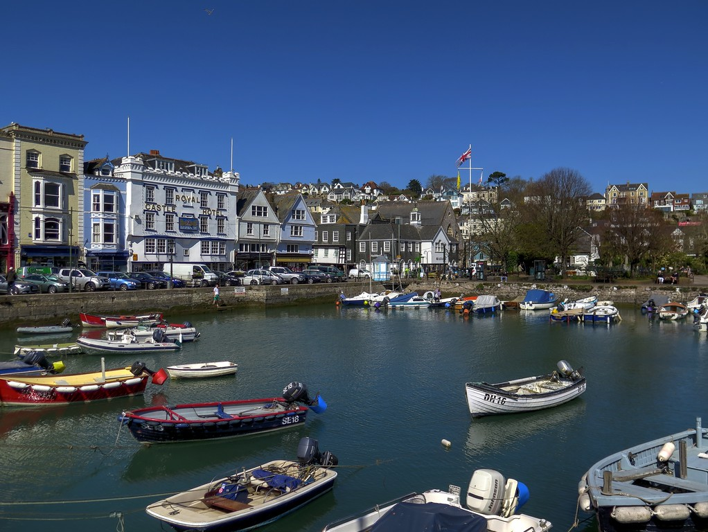 The inner harbour in Dartmouth