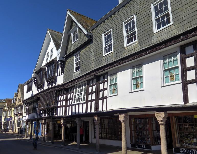 The Butterwalk in Dartmouth