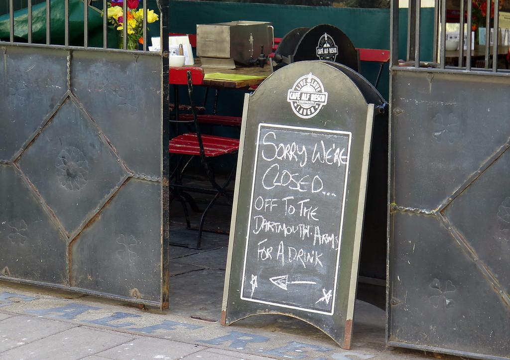 The Café Alf Resco in Dartmouth is closed