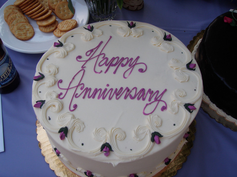There is always room for cake!  But a silver anniversary merits three.  YUM!!!