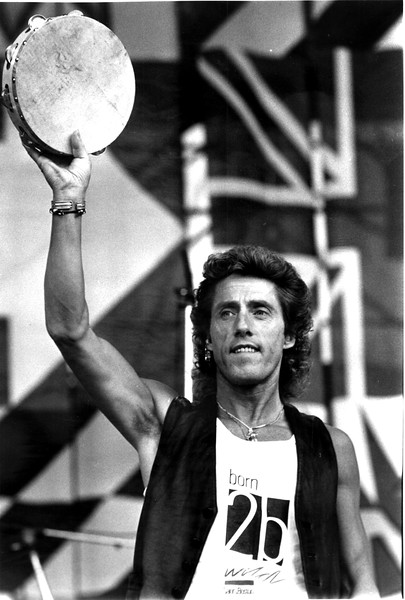Roger Daltrey of The Who, during their 1978 concert in Foxboro.