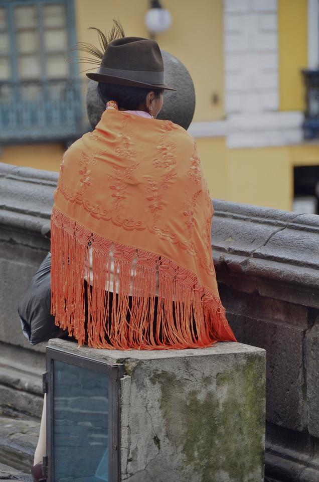 Woman, Plaza de San Francisco, Quito