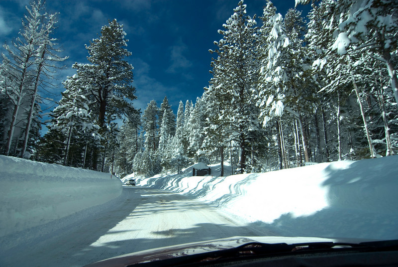 Moving towards the Rancheria Snowmobile Rentals
