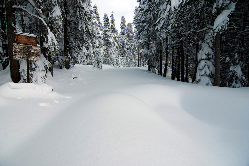 The entrance to the Red Mtn OHV Under Snow