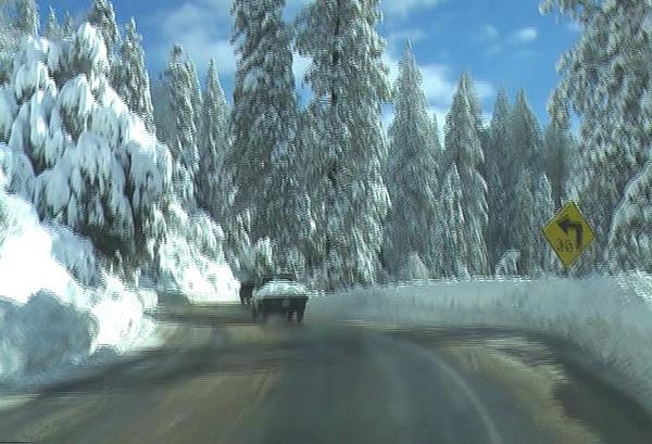 Moving towards Shaver Lake.  Video by Ben Zastonvik.