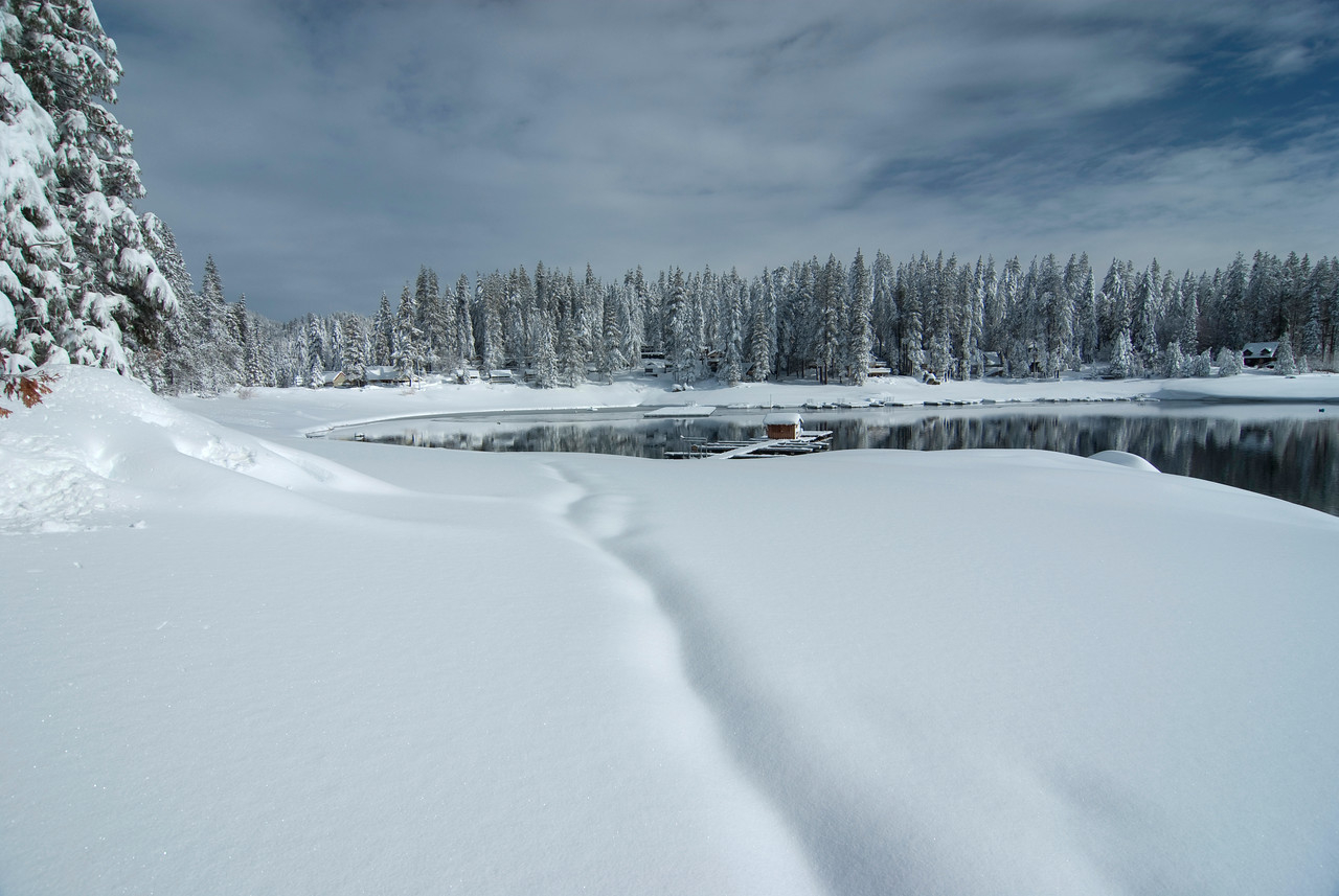 Shaver Lake after a series of 6 Winter Storms in 2010.