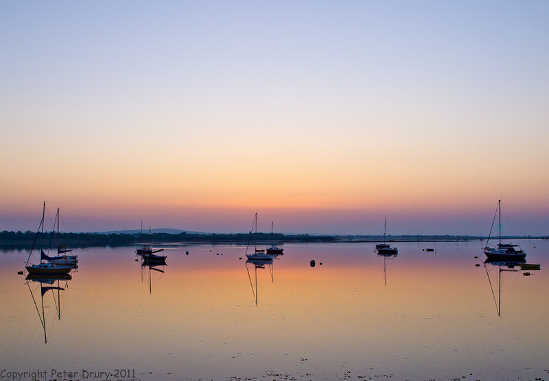 23 April 2011. Dawn scenes from Langstone/Hayling Island Bridge. Before sunrise  Copyright Peter Drury 2011