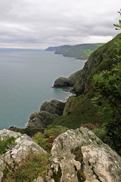 The view East from Highveer Point back to Foreland Point beyond Lynmouth.