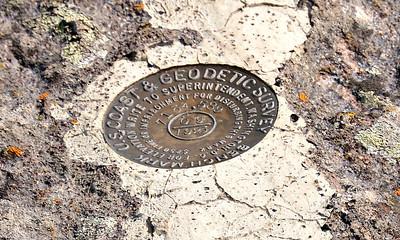 Bench mark at Gibbon Falls