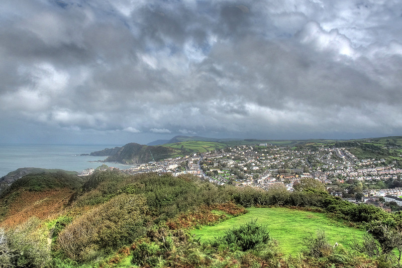 Looking back over Ilfracombe