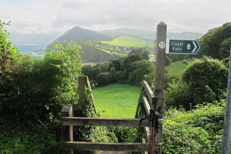 Off again leaving the smaller 'Little Hangman' looking reminiscent of Mount Snowdon beyond Combe Martin.