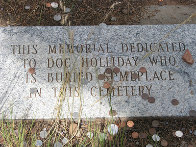 """Doc Holliday is buried """"somewhere"""" in this cemetary."""