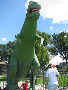 He wasn't a big fan of the t-rex in Fruita, CO though.