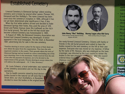 at the Trailhead for Linwood cemetary where Doc Holliday is buried