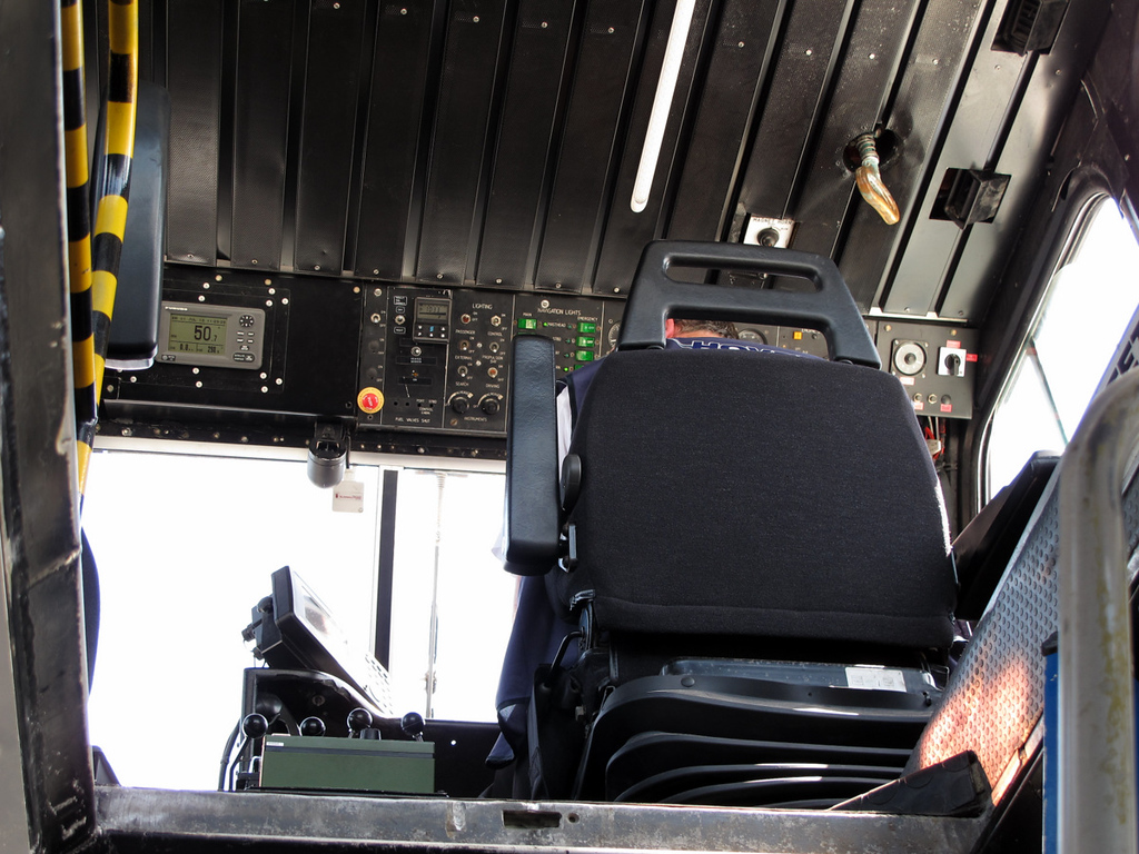 The 'flight deck' in the Hovercraft