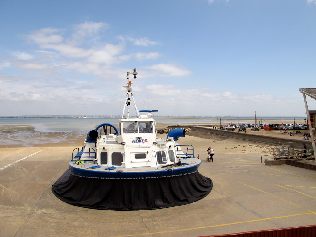 One of the hovercraft at Ryde on the Isle of Wight.