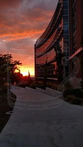 Thatcher Bldg, U-of-U campus, and a pleasant sundown