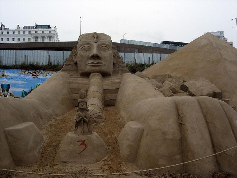 Egypt in sand. Brighton July 2005