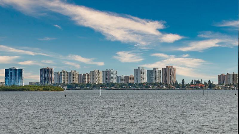 Daytona Beach Condos as seen across Halifax River