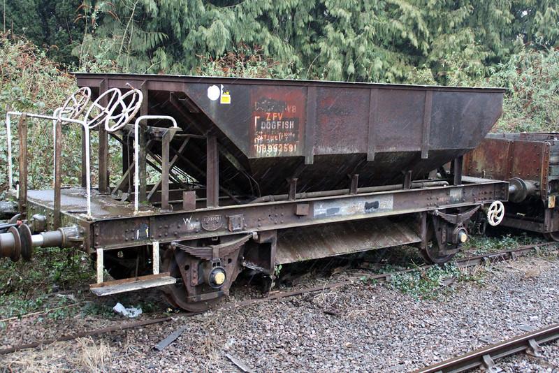 24t ZFV Dogfish DB993591 at Lydney, Dean Forest Railway  23/03/13.