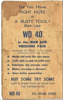 This is a genuine Ad from 1964 when WD-40 was first released.