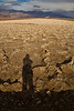 Selfie on the salt flats in Death Valley