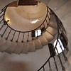 cool spiral staircase leading up to, or down from the music and entertainment room at the castle