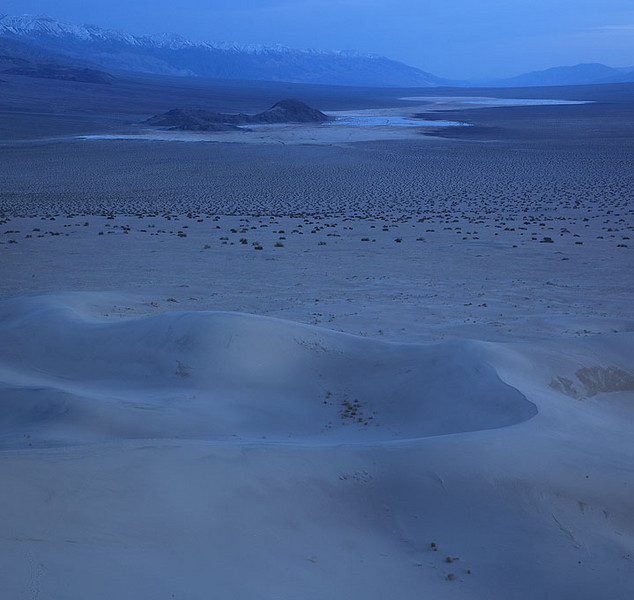 Telescope Peak from the Panamint Dunes in Death Valley