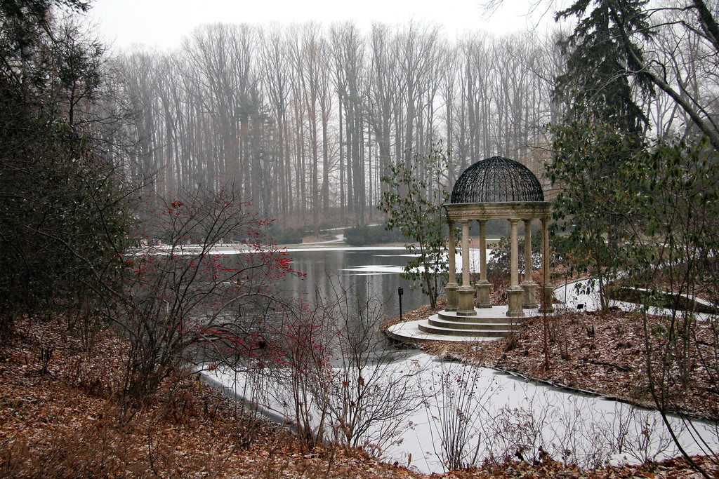 Dec 18 -- GAZEBO<br /> This is the gazebo at Longwood where I shot yesterday's POTD. It was snowing while we were walking -- very beautiful and quiet.<br /> Have a good weekend! Thank you for all your comments on the dome yesterday.