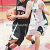 Jeremy Reed    #41 charges to the basket with st bedes #12 in the first half monday at marseilles school tournament.