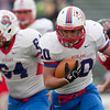 Jason Kapusta/Herald<br /> Richland's Tanner Solarczyk carries the ball for the Rams.