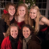 Five Ayers sisters at the Christmas dance on Ayers Ridge (Anderson)<br /> <br /> Photographer's Name: Terry Lynn Ayers<br /> Photographer's City and State: Anders0n, IN