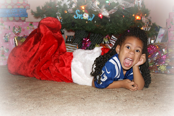 Hey, is it Christmas yet? Madison Johnson, granddaughter of Patti Safford, Anderson, Ind.<br /> <br /> Photographer's Name: Patti Safford<br /> Photographer's City and State: Anderson, Ind.