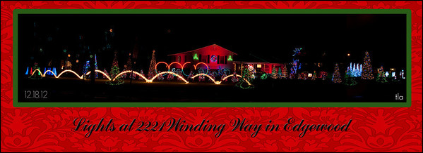 The lights in Edgewood...they do an amazing job!<br /> <br /> Photographer's Name: Terry Lynn Ayers<br /> Photographer's City and State: Anderson, IN