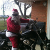 Santa  on a Harley.<br /> <br /> Photographer's Name: Melinda Cloat<br /> Photographer's City and State: Anderson, Ind.