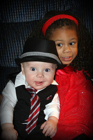 All dressed up and ready to celebrate! Mason Vandergrift and Madison Johnson  Children of Chris and Julie Vandergrift, grandchildren of Patti Safford. Anderson, Ind.<br /> <br /> Photographer's Name: Patti  Safford<br /> Photographer's City and State: Anderson, Ind.