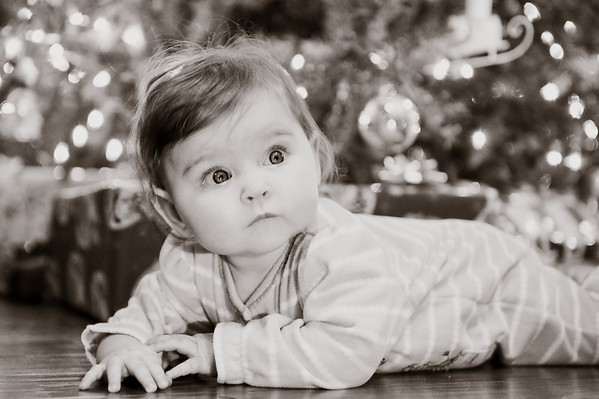 My grandaughter Aislynn by the Christmas tree.<br /> <br /> Photographer's Name: Terry Lynn Ayers<br /> Photographer's City and State: Anders0n, IN