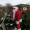 Santa thinking of where he is going to see the kids.<br /> <br /> Photographer's Name: Melinda Cloat<br /> Photographer's City and State: Anderson, Ind.