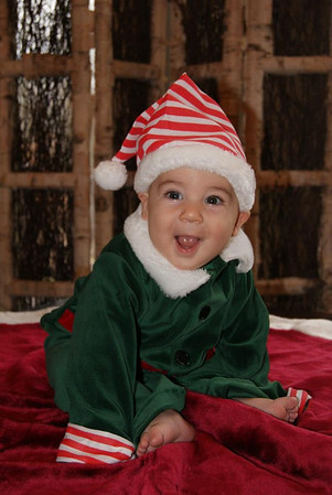 My grandson, Clayton Adams of Huntertown, ready for his first Christmas!<br /> <br /> Photographer's Name: Diana Adams<br /> Photographer's City and State: Frankton, Ind.