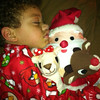 This is my great-nephew, Sean-David Williams (3 1/3) from Bloomington, Ind. This is how he went to sleep on Christmas Eve. <br /> <br /> Photographer's Name: Linda Horn<br /> Photographer's City and State: Anderson, Ind.