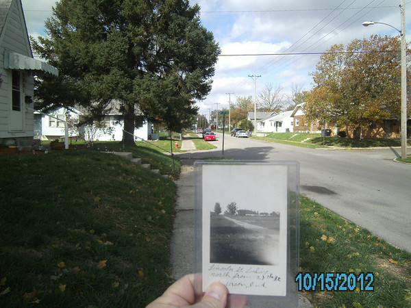 Lincoln St., Anderson,In. looking north from 27th St. July 1910, and this year!<br /> <br /> Photographer's Name: Dan Simmons<br /> Photographer's City and State: Anderson, IN