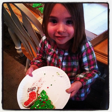Jocelyn making cookies for Santa.<br /> <br /> Photographer's Name: Karen Box<br /> Photographer's City and State: Anderson, IN