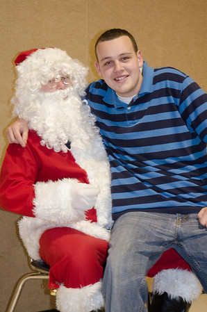 My grandson Michael Partlow never gets too big for Santa.<br /> <br /> Photographer's Name: Kathy Partlow<br /> Photographer's City and State: Frankton, Ind.