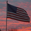 Front yard flag at sunset.<br /> <br /> Photographer's Name: Roger Chezem<br /> Photographer's City and State: Anderson, Ind.