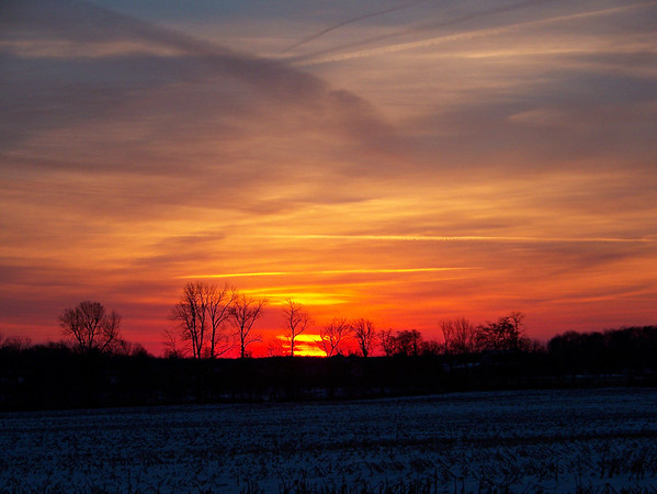 A colorful sunrise just south of Anderson.<br /> <br /> Photographer's Name: Greg Tompkins<br /> Photographer's City and State: Anderson, Ind.