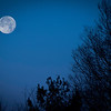 The moon setting in the west on the morning of Dec 18.<br /> <br /> Photographer's Name: Terry Lynn Ayers<br /> Photographer's City and State: Anderson, Ind.