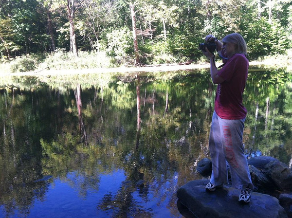 My girlfriend Morgan Elbert taking a picture at Shades State Park.<br /> <br /> Photographer's Name: L. Angel  Hernandez<br /> Photographer's City and State: Alexandria, Ind.