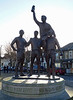 Statue near the Boleyn Ground to commemerate the West Ham members of the 1966 World Cup team