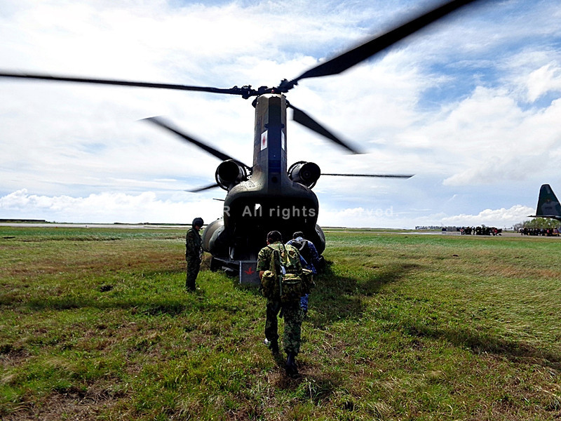 Japanese Self-Defense Force airlifting operation in Eastern Visayas
