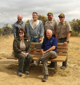 dedicating bench to Bob Simmons on Lime Ridge_05_25_2017